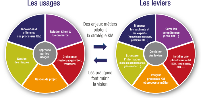 Illustration Knowledge Management : usages et leviers